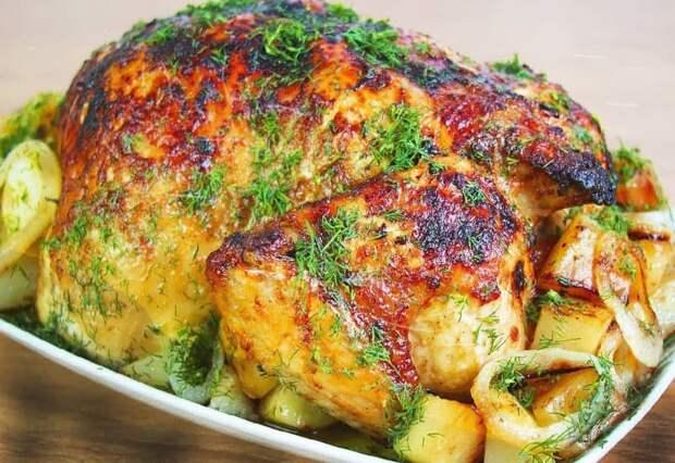 Курица в духовке под апельсиновым соусом. Вся прелесть заключается в соусе 2