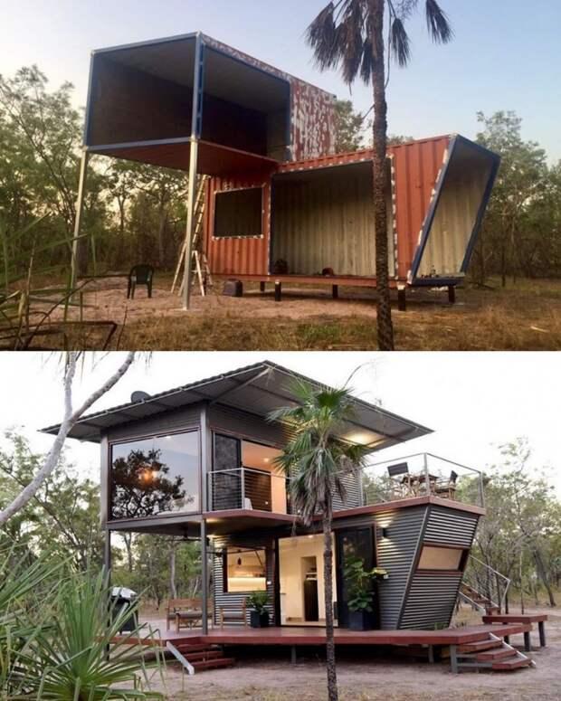 Шикарный дом... из двух бытовок
