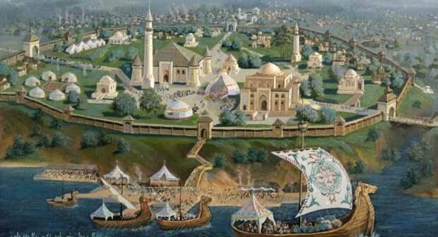 Древний город Волжской Булгарии (Иллюстрация из открытых источников)
