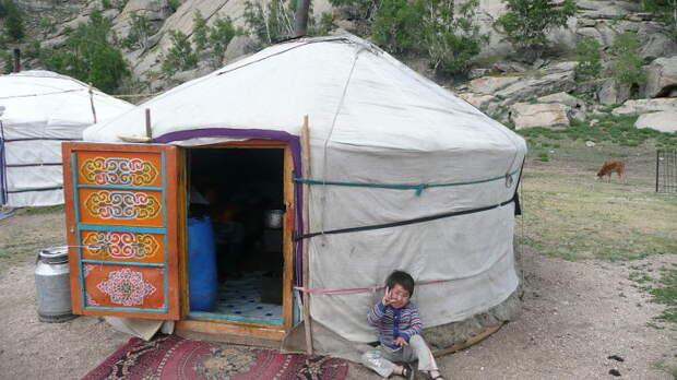 Монгольская юрта. | Фото: commons.wikimedia.org.