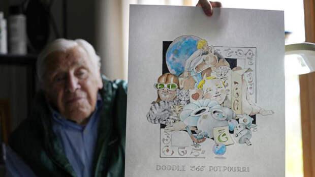 88-летний мужчина нарисовал 365 картин за год пандемии в пансионате