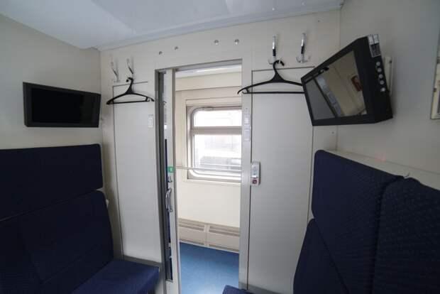 Появились первые фотографии интерьера поездов в Крым