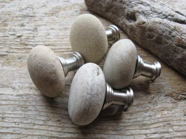 мебельные ручки из натурального камня