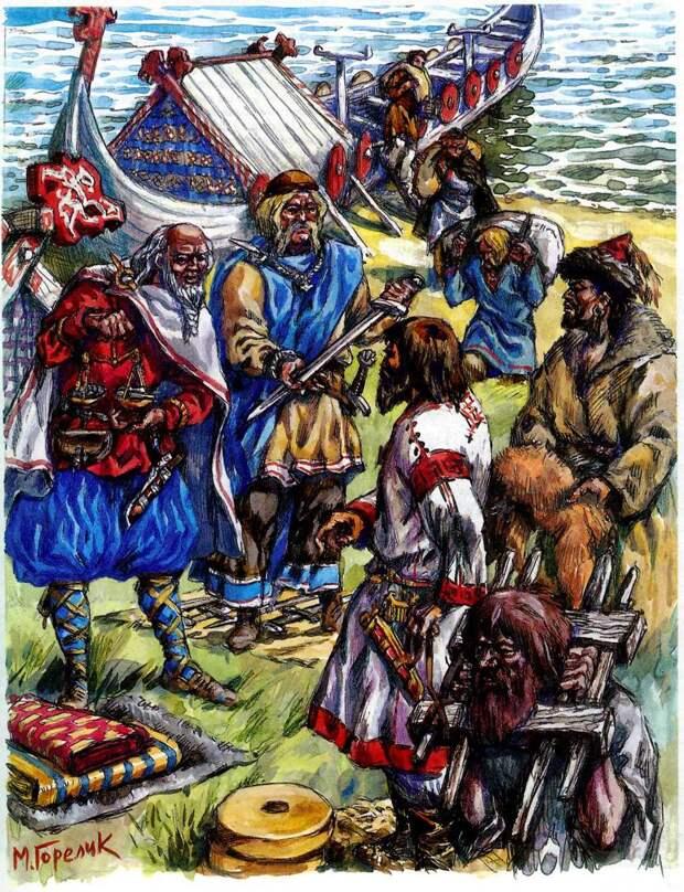 Рисунки-реконструкции Михаила Горелика с изображениями викингов. Для будущих создателей фильмов о викингах)