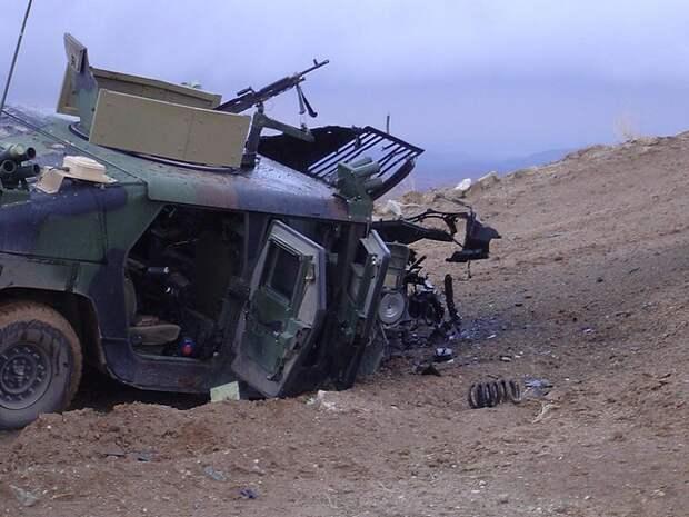 Армения уничтожила броневик Азербайджана при попытке нарушения им госграницы