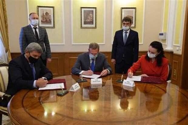 Подписание соглашения о взаимодействии с правительством Омской области