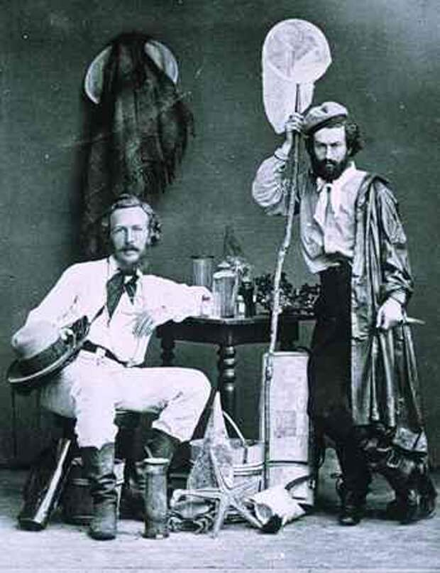 Эрнст Геккель (слева) со своим ассистентом Миклухо-Маклаем на Канарских островах. Декабрь 1866 года