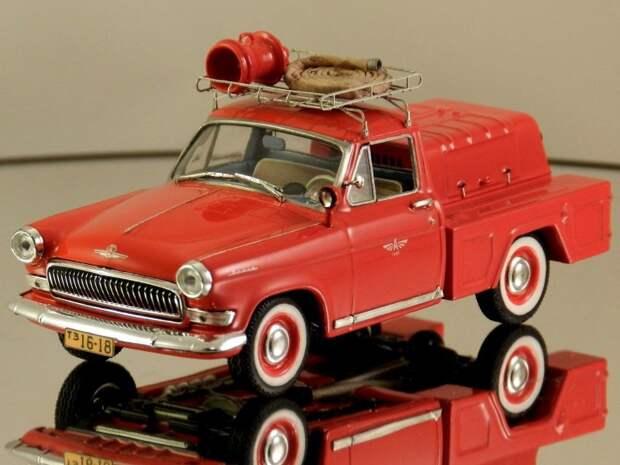 ГАЗ-21 пожарная помпа авто, автодизайн, газ, запорожец, моделизм, модель, москвич, советские автомобили