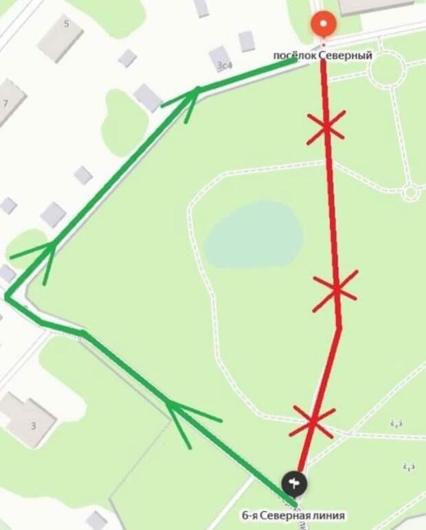 Проход в парке Северный перекрыли до 15 августа