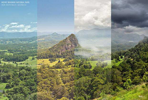 Как выглядят одни и те же уголки планеты в разные сезоны года