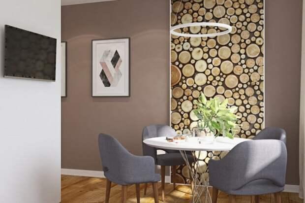 Панно из деревянных спилов. \ Фото: google.ru.