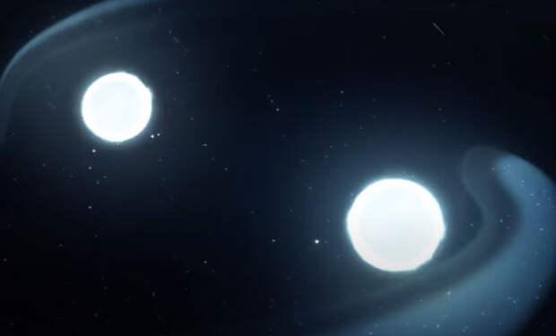 Звезда поглощает другую звезду: астрономы показали редкое явление