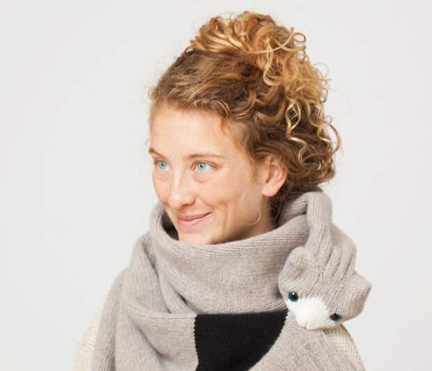 Уютные анималистичные шарфы