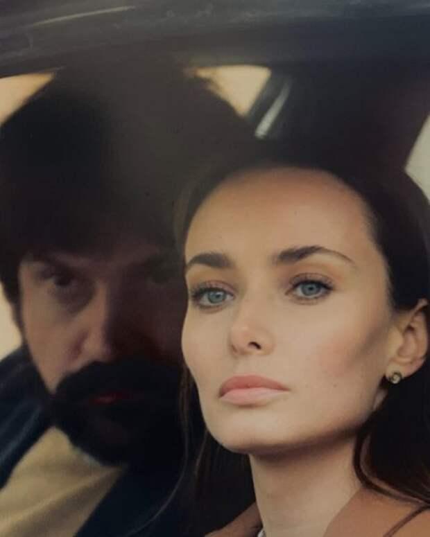 Ксения Мишина на съемках в Хорватии