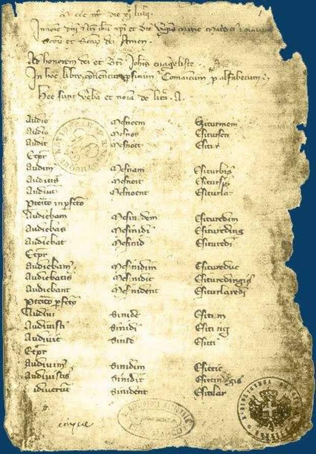 «Кодекс Куманикус» - известная письменная памятка Куманского (старо-кипчакского) языка начала XIV века.