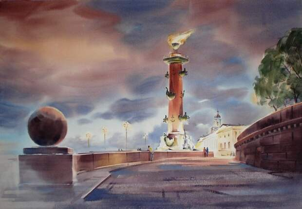 художник Константин Кузема акварель картины - 15