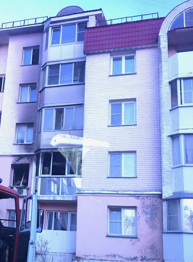 Пожар в квартире на Победы