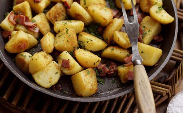 Жарим самую мужскую картошку. Вся тонкость в добавлении сала
