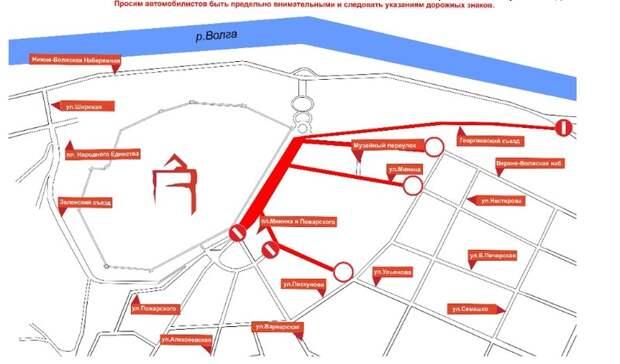 Придется объезжать: еще одну улицу вцентре города перекроют вНижнем Новгороде