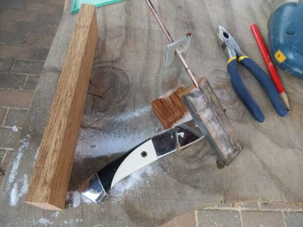 Простое приспособление для заточки ножей под фиксированным углом