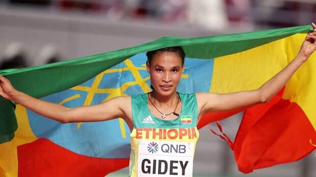 Эфиопская легкоатлетка Гидей установила новый мировой рекорд в беге на 10000 м