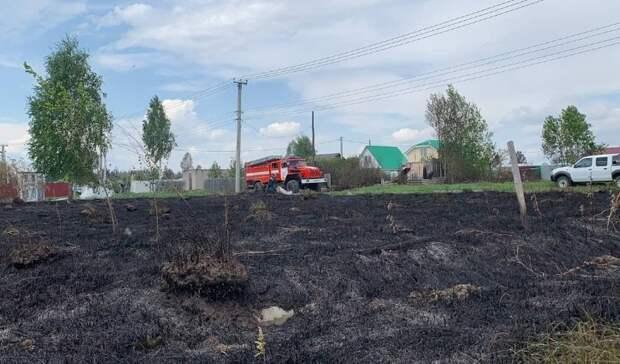 Последствия пожара вТюменском районе— 25 дачных домов сгорело вСНТ «Солнышко»