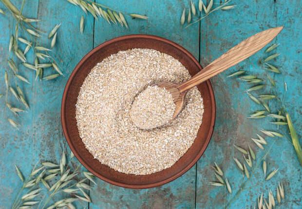 Всего 55 г пшеничных отрубей покрывают ежедневную норму клетчатки для организма