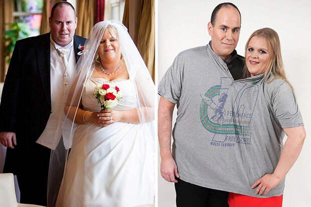 """Ноэль и Лиза взглянули на свои свадебные фотографии, ужаснулись - и сказали """"пока!"""" почти 150 килограммам лишнего веса! диета, лишний вес, похудение"""