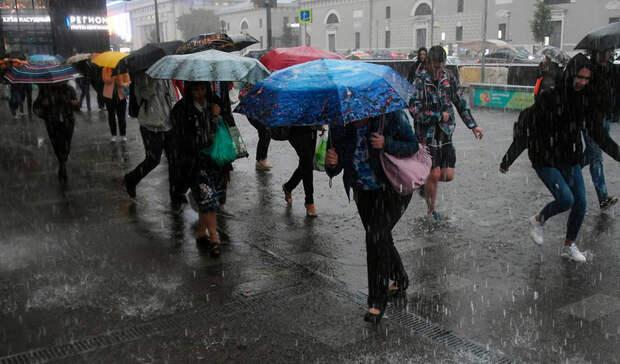 В Москве ожидается затяжной ливень во вторник и в среду