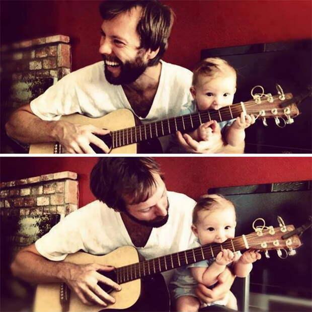 Отцы и дети, похожие во всем