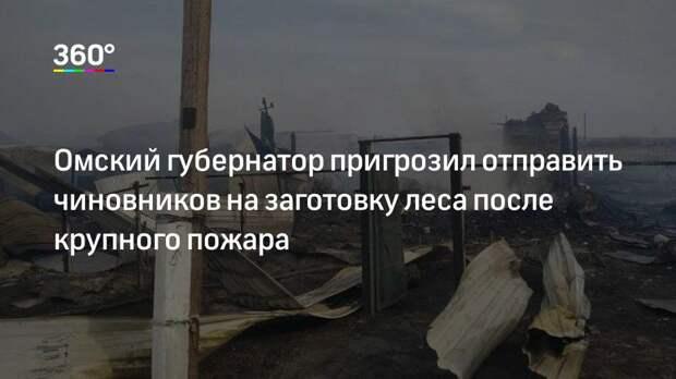 Омский губернатор пригрозил отправить чиновников на заготовку леса после крупного пожара