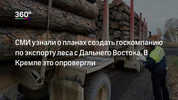СМИ узнали о планах создать госкомпанию по экспорту леса с Дальнего Востока. В Кремле это опровергли