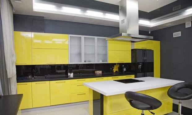 Жёлтая кухня: сочетание цветов, оформление интерьера и правильные акценты (56 фото)