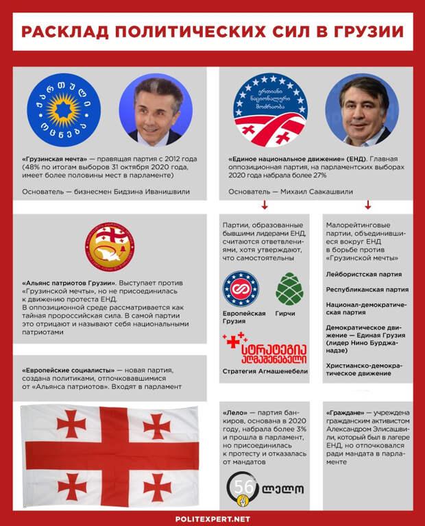 Политический расклад в Грузии до появления новой партии Васадзе