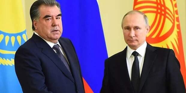 В Кремле рассказали о темах встречи Путина и Рахмона