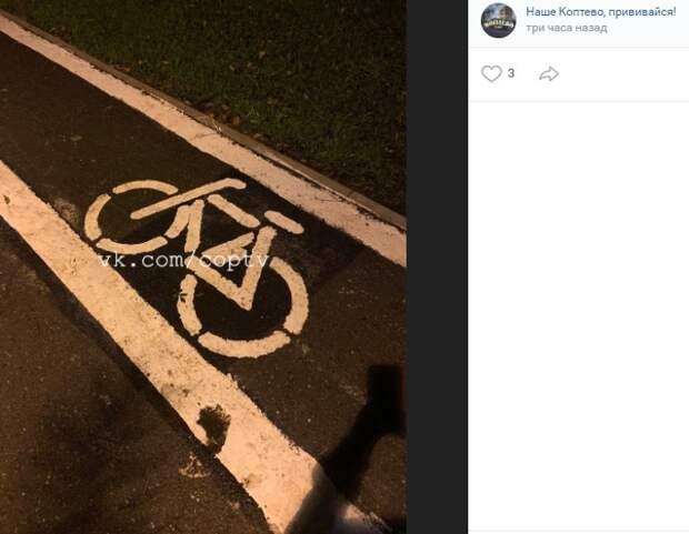 Фото дня: рисунки велосипедов в Коптеве прошли тюнинг
