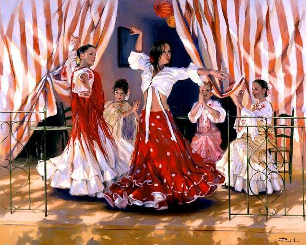 Художник Ricardo Sanz. Картина женщин маслом тринадцатая