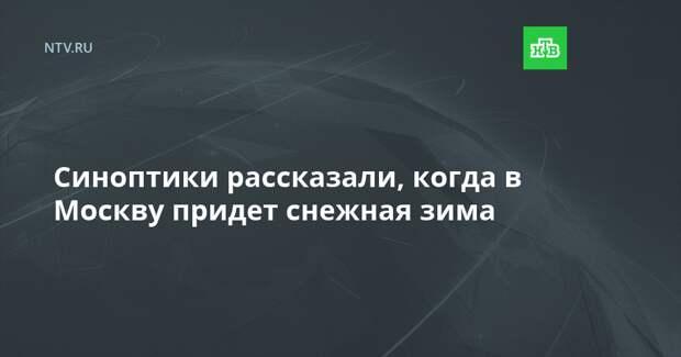 Синоптики рассказали, когда в Москву придет снежная зима