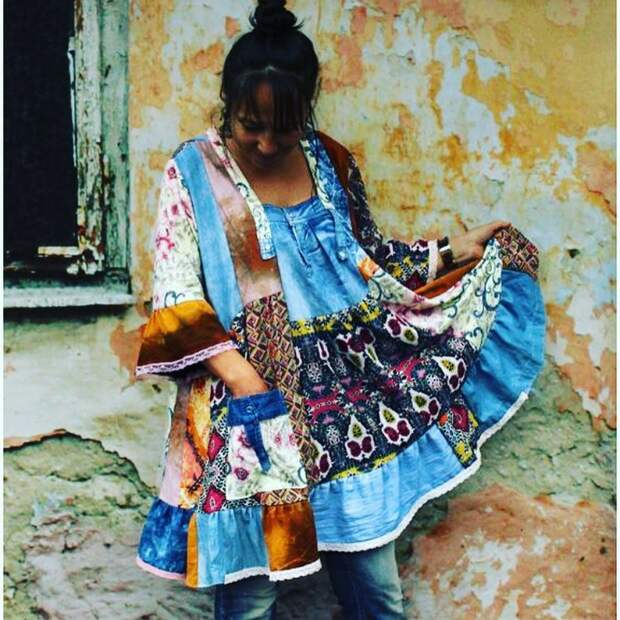 Фантазии на тему переработки старых вещей.Marta Lelek