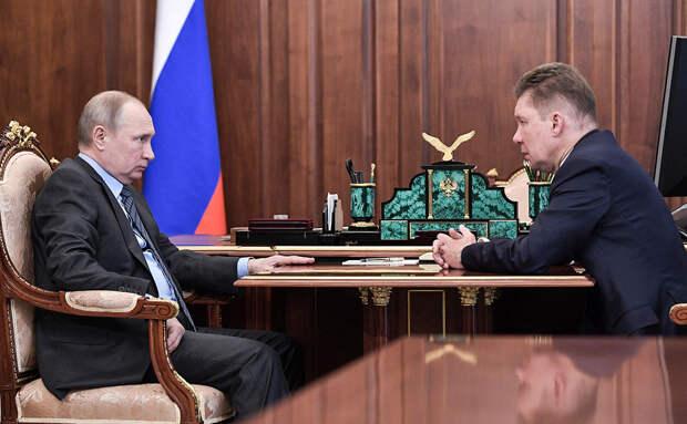Миллер пообещал Путину завершить газификацию России за 10 лет