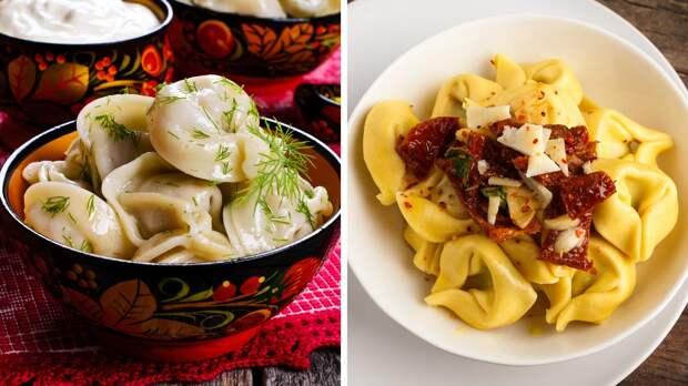 4 блюда-близнеца в русской и итальянской кухнях