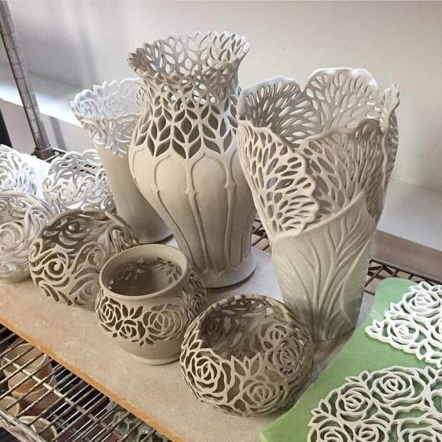 Керамический ажур - великолепные работы.