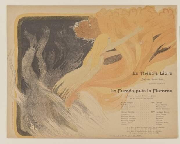 Louis Abel-Truchet, программка для спектакля «Дым, затем огонь», 1895