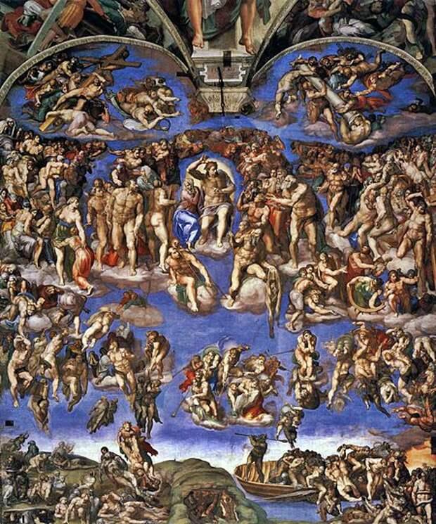 450px-Michelangelo,_Giudizio_Universale_02