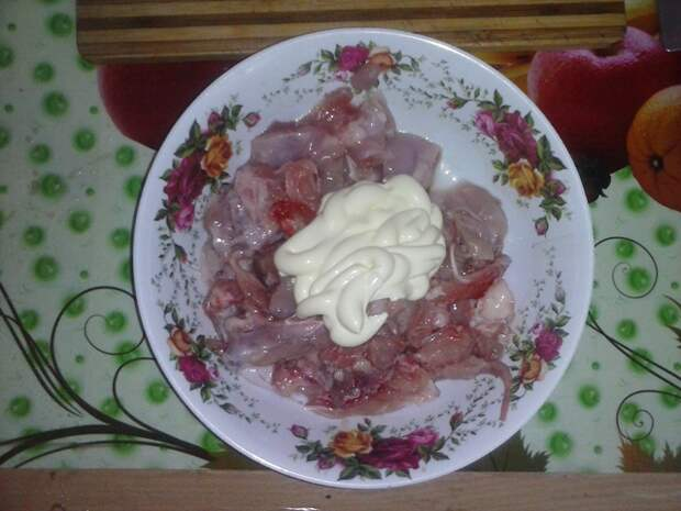 Картошка с куриным мясом