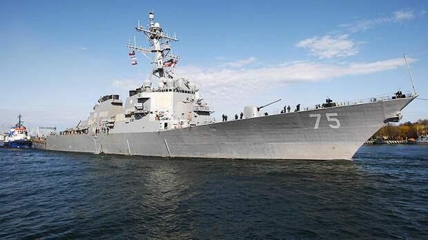 Российские истребители отработали условное уничтожение эсминца «Дональд Кук» ВМС США
