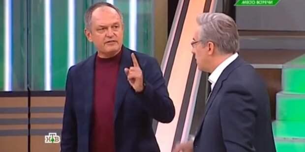 Украинский эксперт обиделся на ведущих НТВ и ушел из прямого эфира