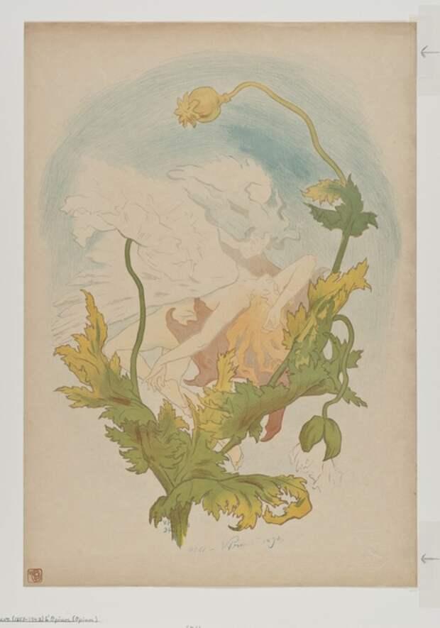 Victor Emile Prouve, L'Opium (Опиум), 1894
