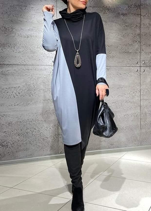 Фото 6 - платье в стиле блок - колор.