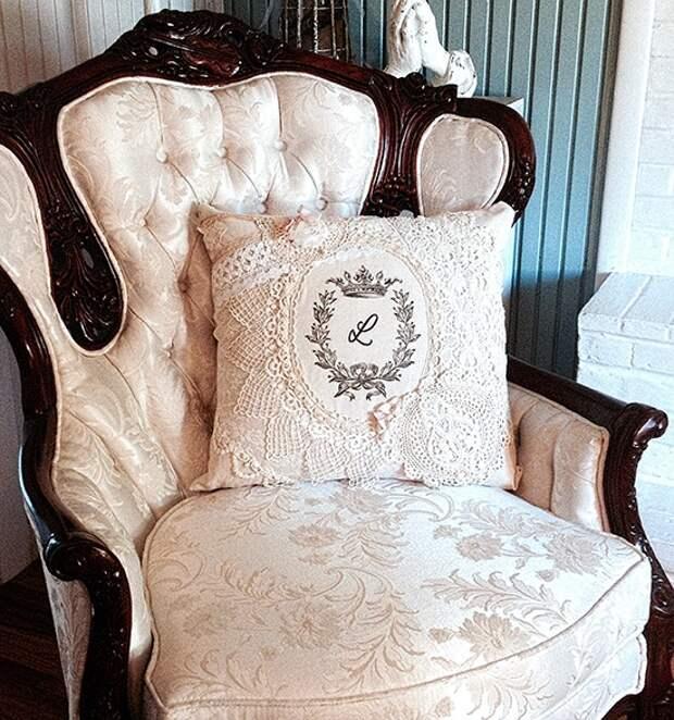 Кружевная подушка (Diy)